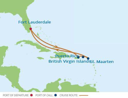 Eastern Caribbean Cruise Itinerary Map